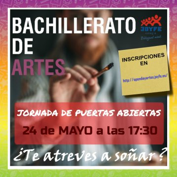 Colegio Joyfe - Noticias - open day bachillerato artes